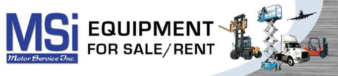 Equipment for sale or rent